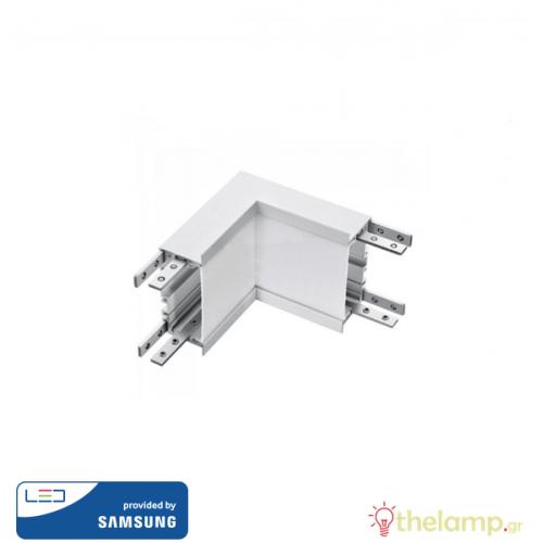 Led σύνδεσμος εσωτερική γωνία για γραμμικό φωτιστικό 10W 240V 120° cool white 4000K λευκό Samsung chip 396 VT-7-42-LN V-TAC