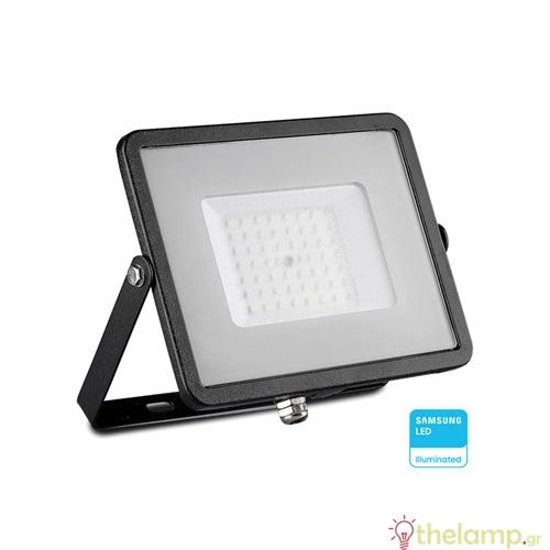Προβολέας led 50W 230V 100° warm white 3000K μαύρος Samsung chip 406 VT-50 V-TAC