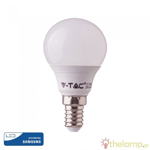 Led γλομπάκι P45 7W E14 220-240V warm white 3000K Samsung chip 863 VT-290 V-TAC