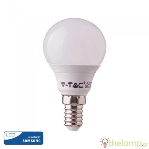 Led γλομπάκι P45 7W E14 220-240V day light 6400K Samsung chip 865 VT-290 V-TAC