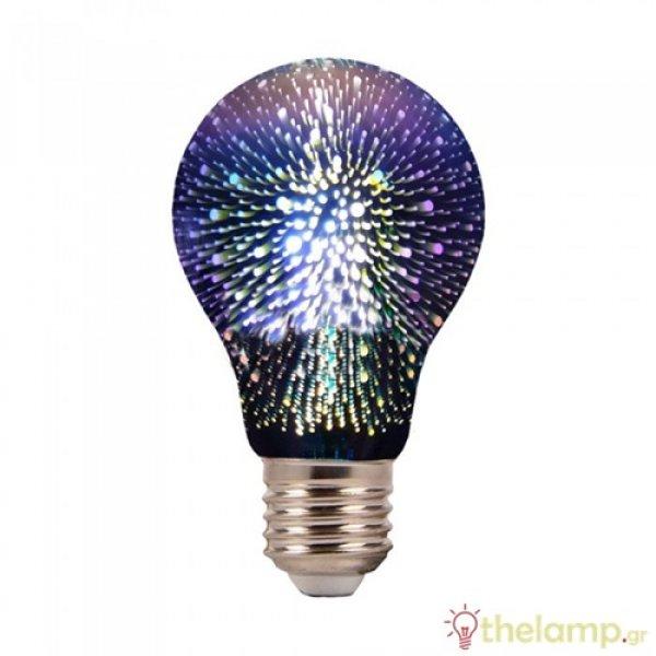Led filament Special Art 3D A60 3W E27 240V warm white 3000K 2704 VT-2203 V-TAC