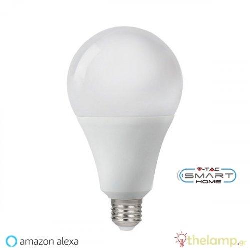 Led κοινή WiFi A95 18W E27 170-265V συμβατή με Amazon Alexa & Google Home 2700-6500K + RGB dimmable 7470 VT-5021 V-TAC