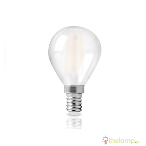 Led γλομπάκι filament G45 6W E14 240V frost cover cool white 4000K 44-05387 Φos_me