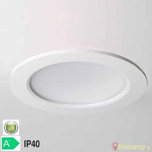 Φωτιστικό led panel χωνευτό 12W 85-260V warm white 3000K στρόγγυλο Φ15cm Φos_me