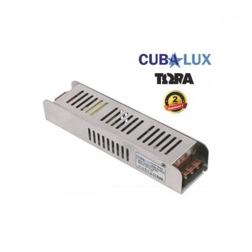 Τροφοδοτικό 176-264V->12V DC 8.3A 100W για Led ταινία IP20 TΩRA Cuba Lux