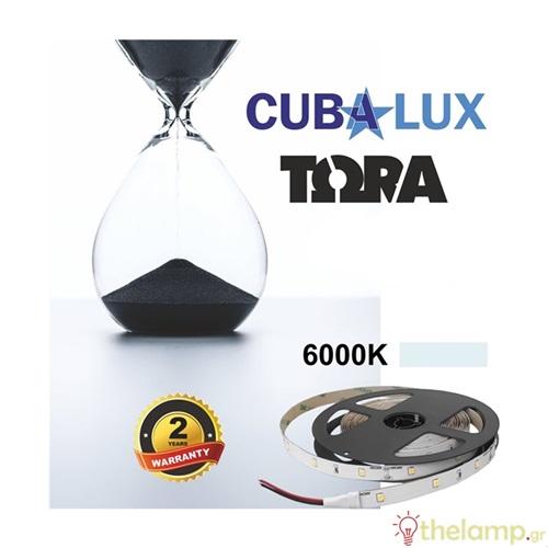 Led ταινία 24V 6W 30led day light 6000K με αυτοκόλλητο TΩRA IP20 Cuba Lux