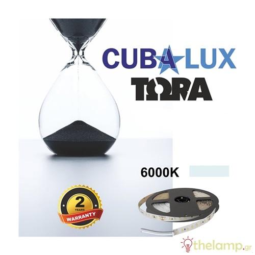 Led ταινία 24V 18W 96led day light 6000K με αυτοκόλλητο TΩRA IP20 Cuba Lux