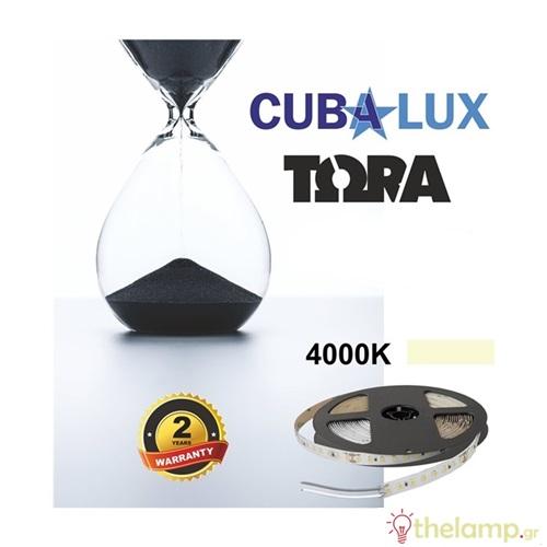 Led ταινία 24V 18W 96led cool white 4000K με αυτοκόλλητο TΩRA IP20 Cuba Lux