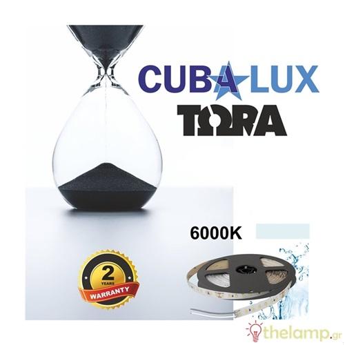 Led ταινία 24V 18W 96led day light 6000K με αυτοκόλλητο TΩRA IP65 Cuba Lux