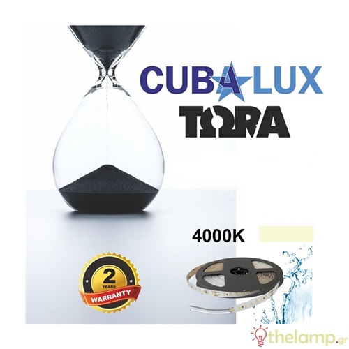 Led ταινία 24V 18W 96led cool white 4000K με αυτοκόλλητο TΩRA IP65 Cuba Lux