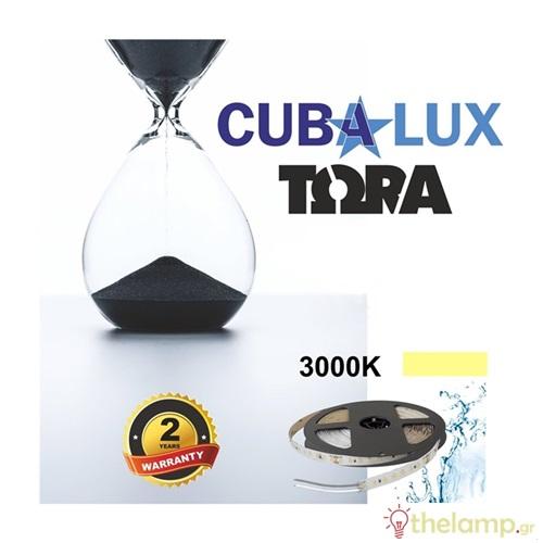 Led ταινία 24V 18W 96led warm white 3000K με αυτοκόλλητο TΩRA IP65 Cuba Lux