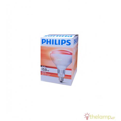 230-250V E27 150W BR125 κόκκινη IR150RH/BR125 Philips