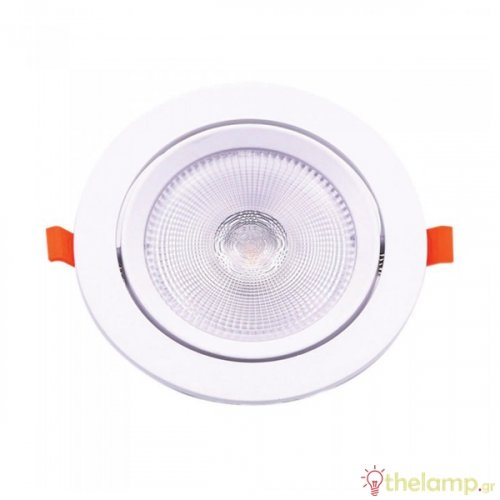Led downlight 10W 85-240V 120° day light 6400K στρόγγυλο Samsung chip 841 VT-2-10 V-TAC