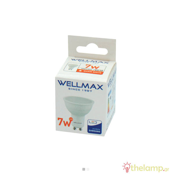 Led GU10 7W 220-240V 120° warm white 3000K Samsung chip Wellmax