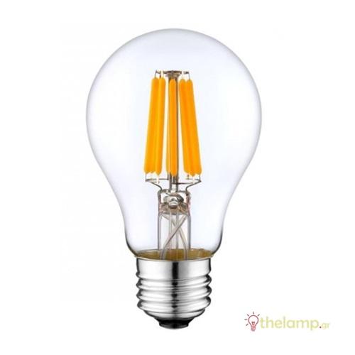 Led κοινή filament A60 11W E27 220-240V διάφανη warm white 2800K Φοs_me