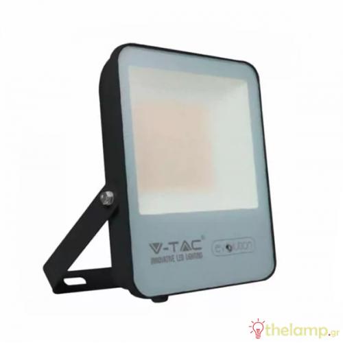Προβολέας led 50W 240V 100° day light 6400K μαύρος Super Bright 160lm/W 5919 VT-4961 V-TAC
