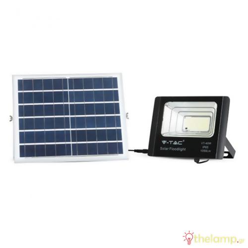 Προβολέας led ηλιακός 16W 240V 120° day light 6400K μαύρος 94008 VT-40W V-TAC