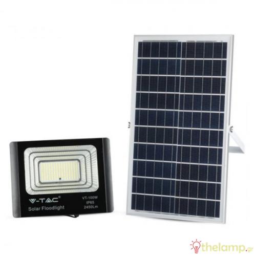 Προβολέας led ηλιακός 35W 240V 120° day light 6400K μαύρος 94012 VT-100W V-TAC