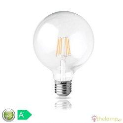 Led γλόμπο filament G125 12W E27 240V διάφανο warm white 2800K Φos_me