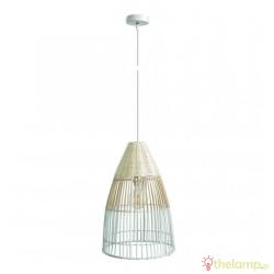 Φωτιστικό κρεμαστό bamboo E27 240V λευκό/ξύλο 03125PE/30