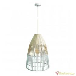 Φωτιστικό κρεμαστό bamboo E27 240V λευκό/ξύλο 03125PE/35