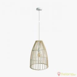 Φωτιστικό κρεμαστό bamboo E27 240V ξύλο 03126PE/30
