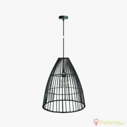 Φωτιστικό κρεμαστό bamboo E27 240V μαύρο 03126PE/45