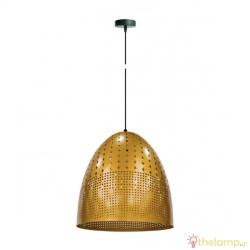 Φωτιστικό κρεμαστό μεταλλικό E27 240V χρυσό 03119PE/GD