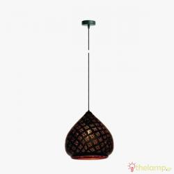 Φωτιστικό κρεμαστό μεταλλικό E27 240V μαύρο 03120PE/B