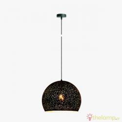Φωτιστικό κρεμαστό μεταλλικό E27 240V μαύρο 03121PE/B