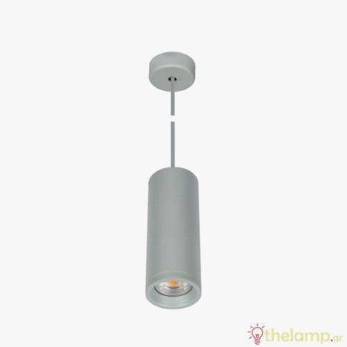 Φωτιστικό κρεμαστό αλουμίνιο GU10 PAR16 240V γκρι 04043PE/G