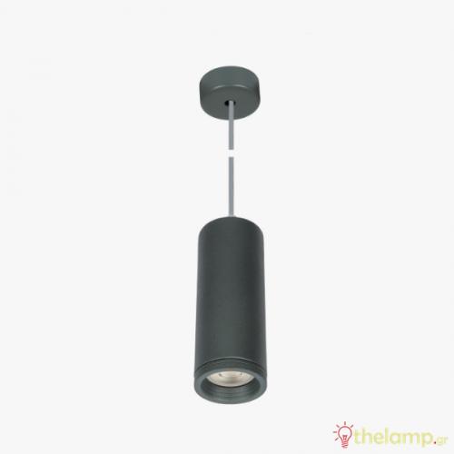 Φωτιστικό κρεμαστό αλουμίνιο GU10 PAR16 240V ανθρακί 04043PE/AN