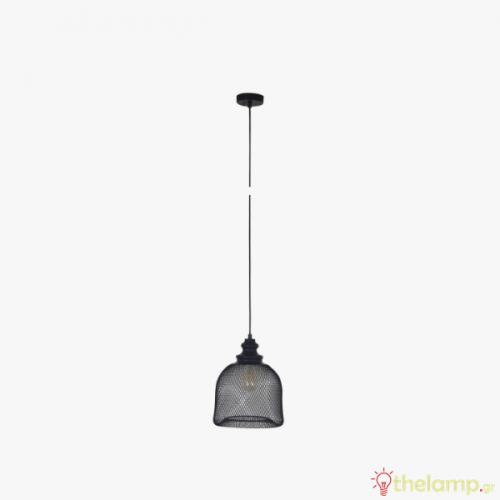 Φωτιστικό κρεμαστό μεταλλικό E27 240V μαύρο 03173/PE/B