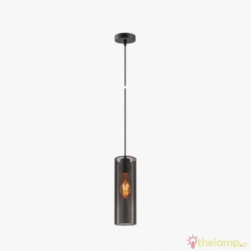 Φωτιστικό κρεμαστό μεταλλικό E27 240V σκούρο γκρι 03164/DG/10