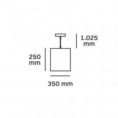 Φωτιστικό κρεμαστό μεταλλικό E27 240V χάλκινο 03165/COP/35