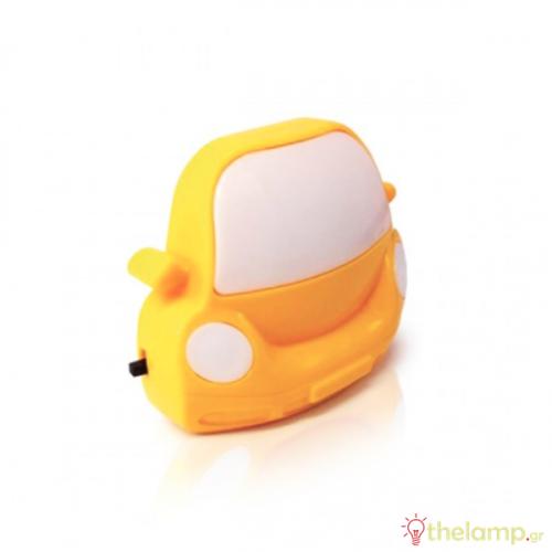 Φωτάκι νυκτός Led αυτοκίνητο 0.5W 110-250V warm white 3000K κίτρινο Φos_me