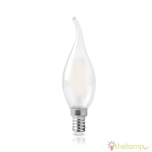 Led φλόγα κεριού filament C35 6W E14 240V ματ warm white 2800K Φos_me
