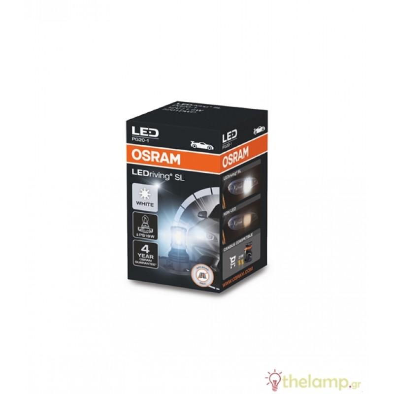 Osram Led 12V 1.6W PG20-1 PS19W SL day light 6000K LEDriving Standard BLI1 5201DWP