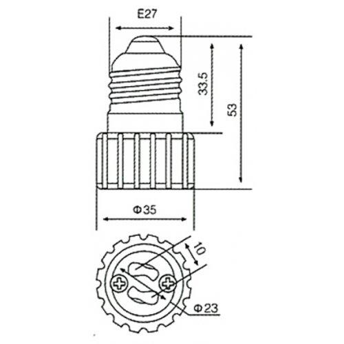 Αντάπτορας ντουί E27 -> GU10 BNA/FRH